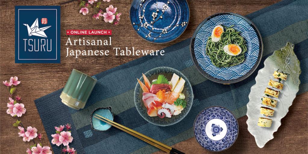 TSURU Japanese Dining Collection Artisanal Tableware