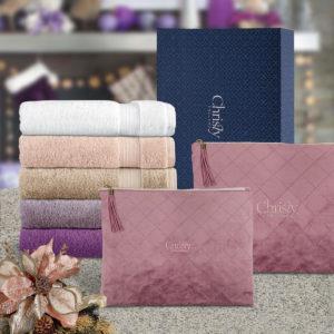 CHRISTY 100% Combed Cotton Bath/Sports Bath Towel with Coral Velvet Pouch Gift Set – SANCTUARY