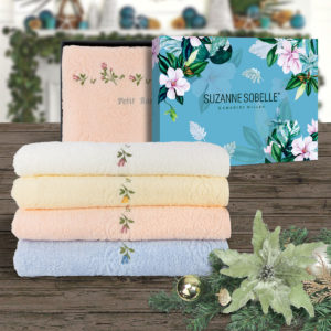 SUZANNE SOBELLE® 100% Combed Cotton Bath Towel Gift Set – PETIT ROSE