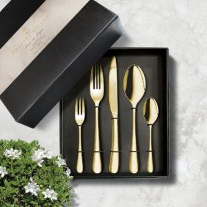 CHARLES MILLEN Signature Cutlery HELENA Gold Mirror Finish