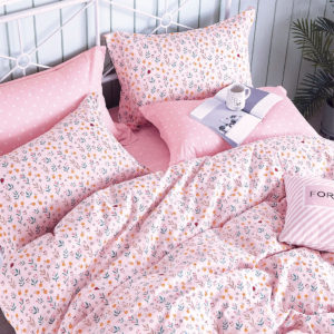 THE GANG Bed Linen 675 Thread Count Fitted Sheet Set LIVIA Pink
