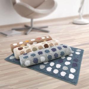 CHARLES MILLEN Suite Collection 100% Cotton Tufted Anti-slip Mat POLKADOT