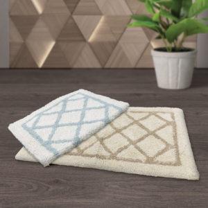 CHARLES MILLEN Suite Collection 100% Cotton Tufted Anti-slip Mat ZANZIBAR