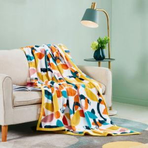 ESPRIT HOME Printed Flannel Fleece Blanket AFRONSO