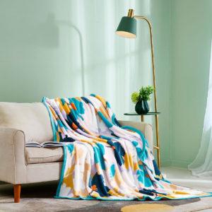 ESPRIT HOME Printed Flannel Fleece Blanket PAULA