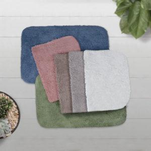 CHARLES MILLEN Suite Collection 100% Super Soft Cotton Tufted Anti-slip Mat – STUCCO